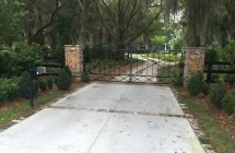 Custom Ornamental Driveway Gate in Lithia